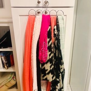 Scarf hanger and variety of scarfs